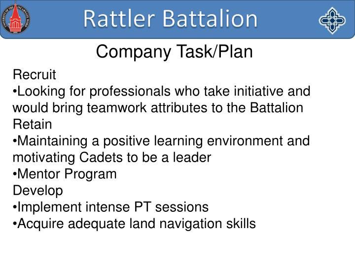 Company Task/Plan