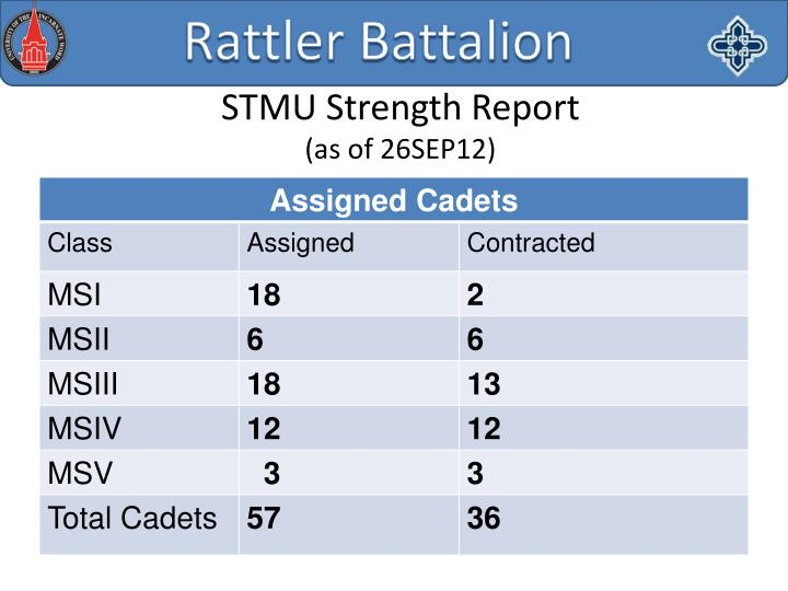 STMU Strength Report