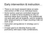early intervention instruction
