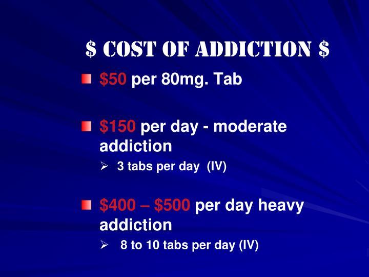 $ Cost of Addiction $