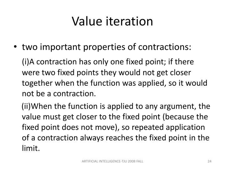 Value iteration