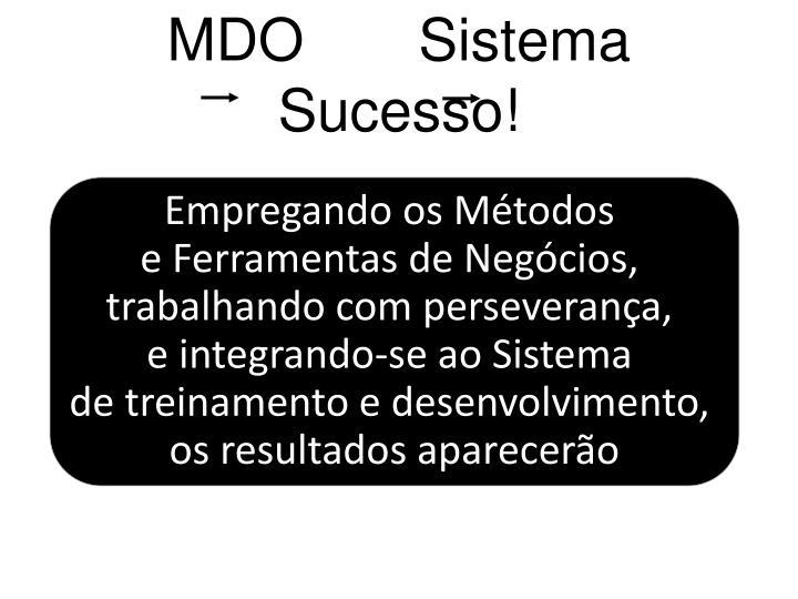MDO       Sistema       Sucesso!