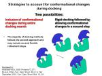 strategies to account for conformational changes during docking1