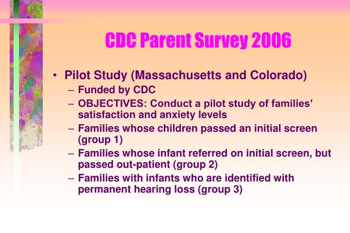 CDC Parent Survey 2006