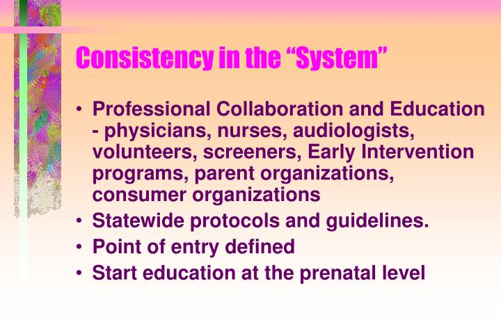 """Consistency in the """"System"""""""