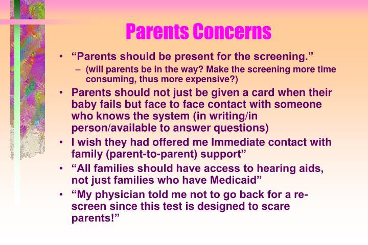 Parents Concerns