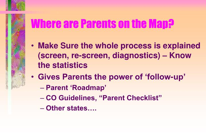 Where are Parents on the Map?