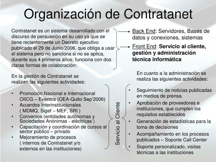 Organizaci n de contratanet