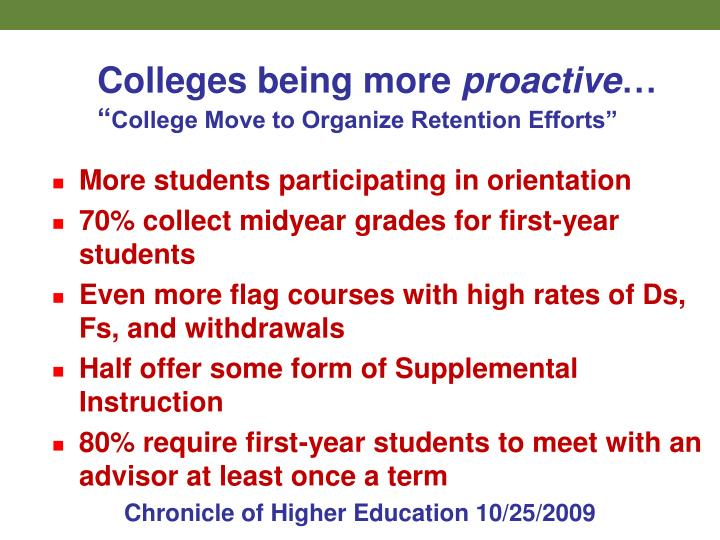 Colleges being more