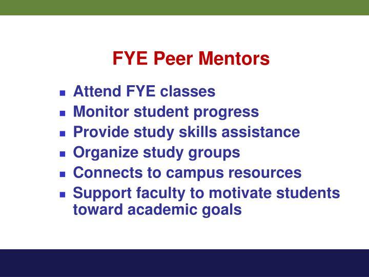 FYE Peer Mentors