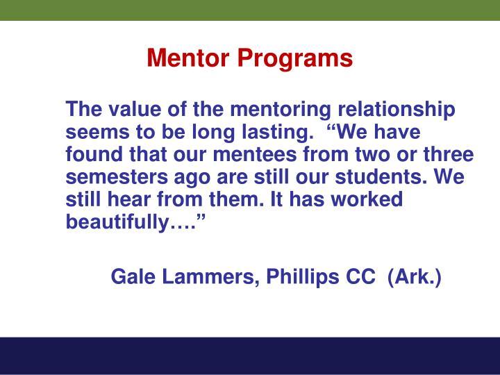 Mentor Programs