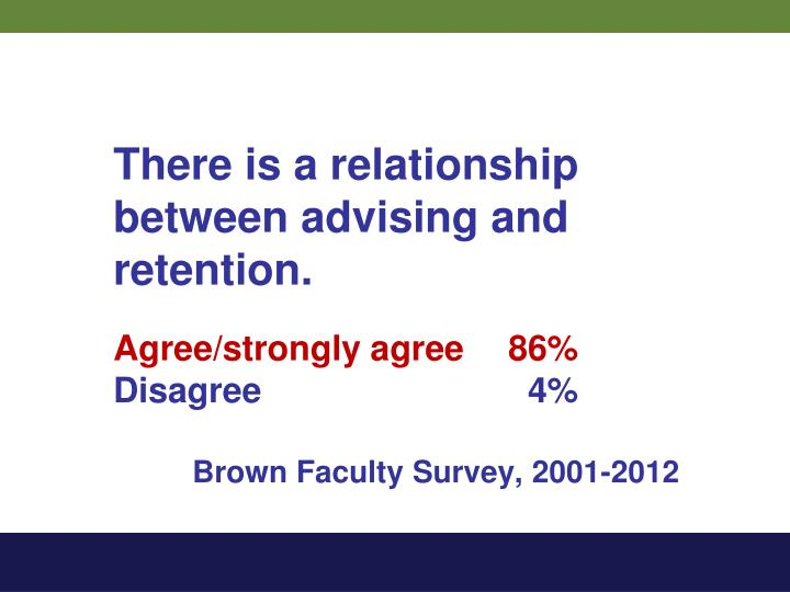 There is a relationship between advising and retention.