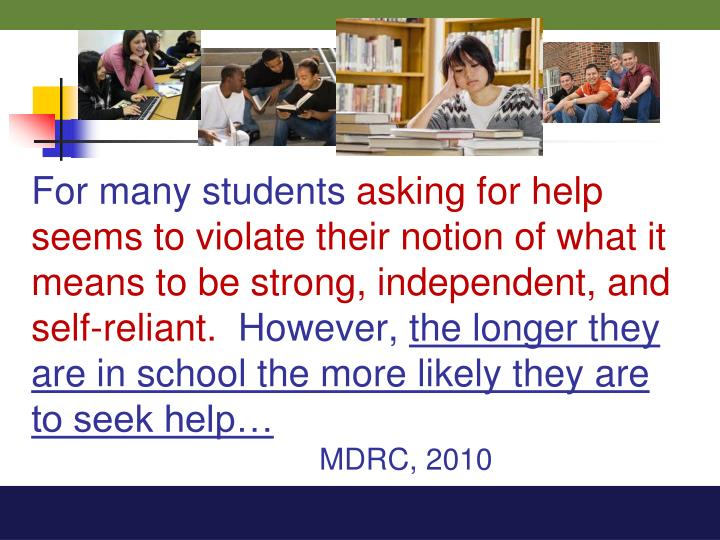 For many students