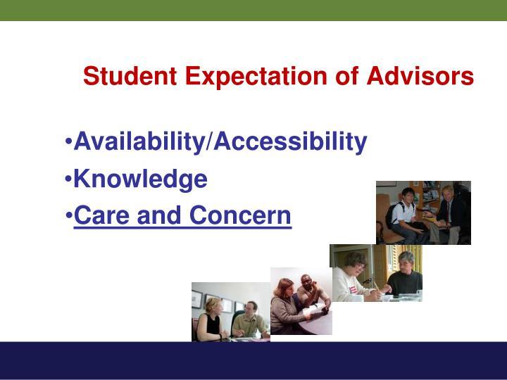 Student Expectation of Advisors