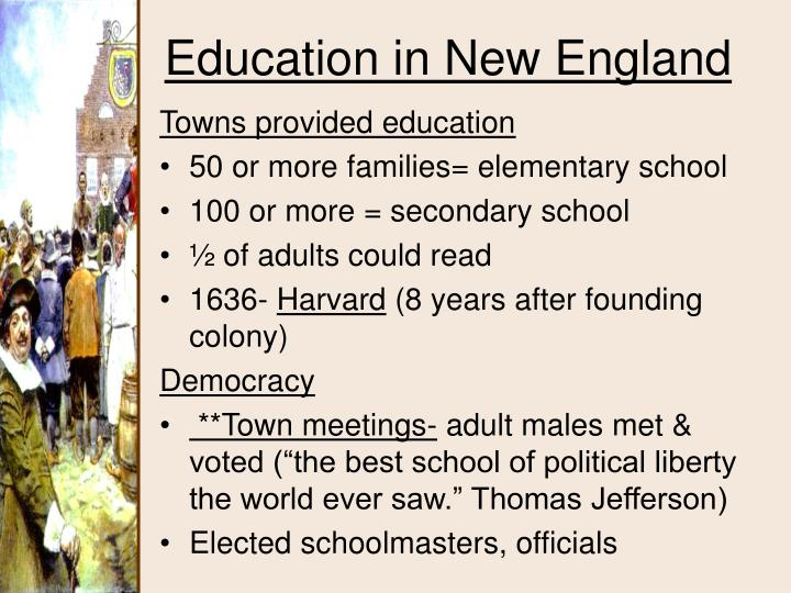 Towns provided education