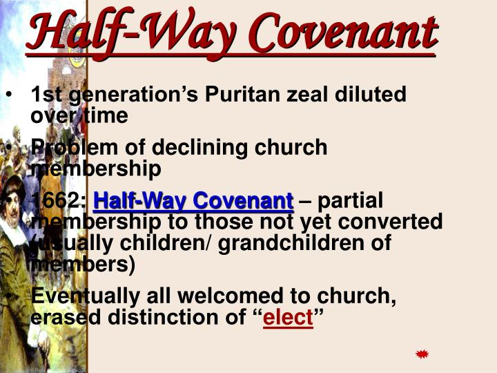 1st generation's Puritan zeal diluted over time