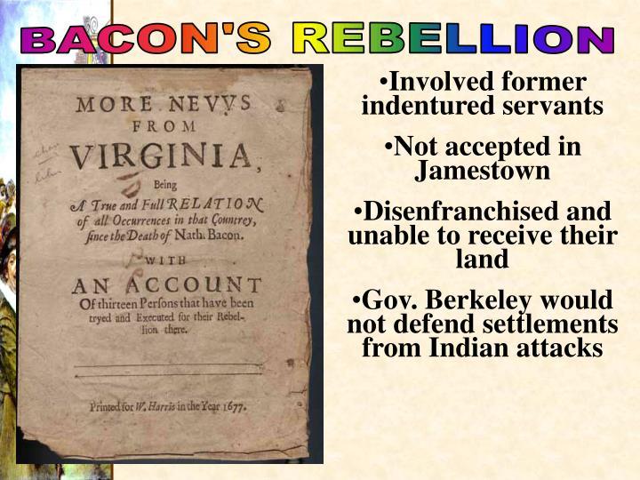 BACON'S REBELLION