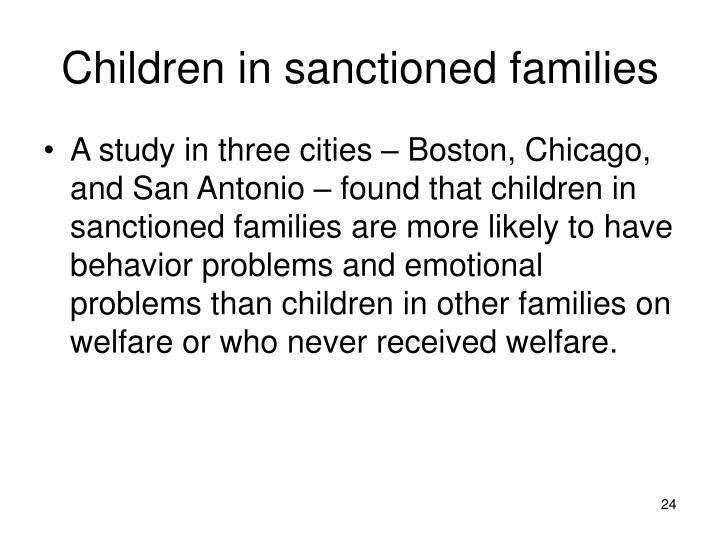 Children in sanctioned families