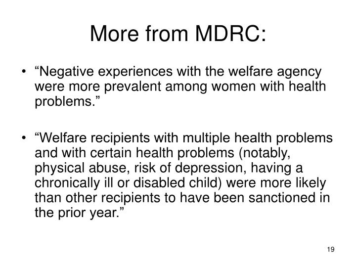 More from MDRC: