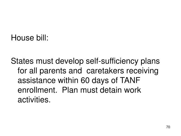 House bill: