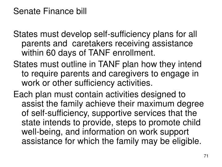 Senate Finance bill