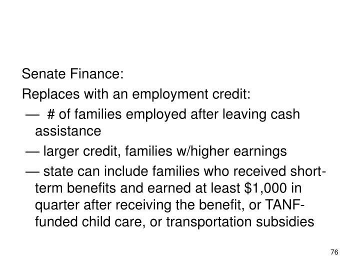 Senate Finance: