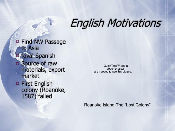 English Motivations