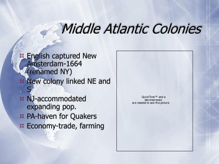 Middle Atlantic Colonies