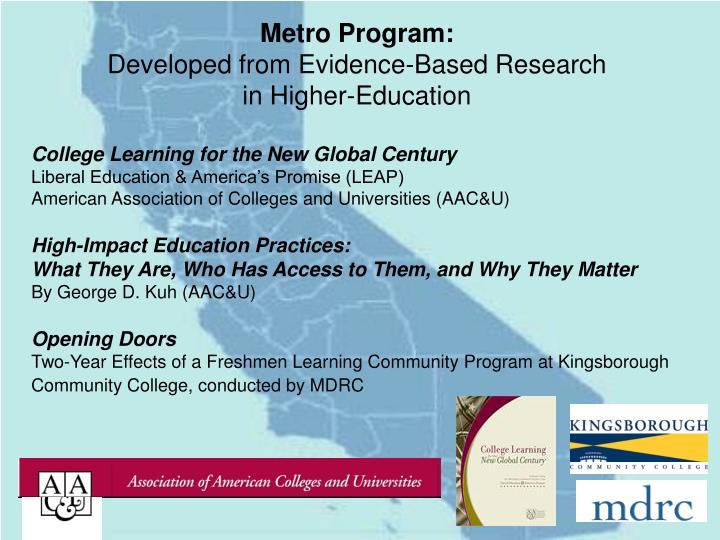 Metro Program: