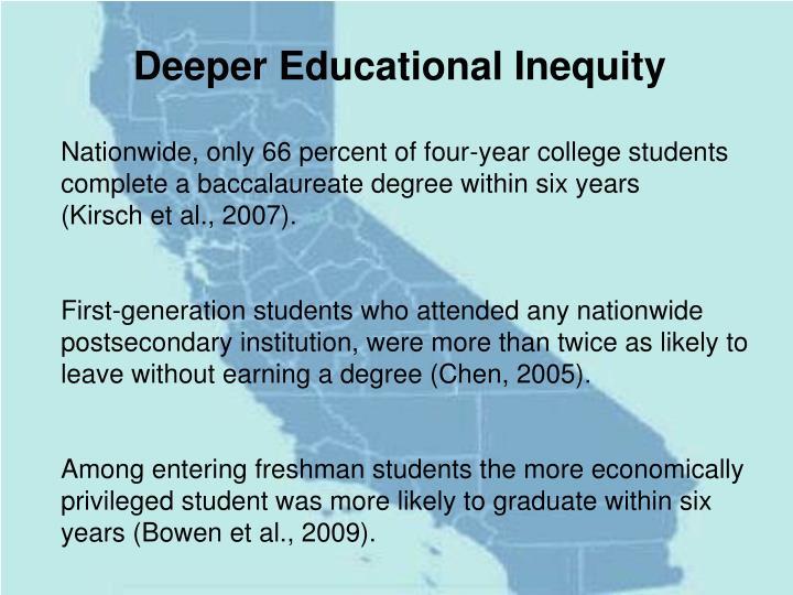 Deeper Educational Inequity