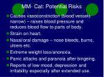 mm cat potential risks