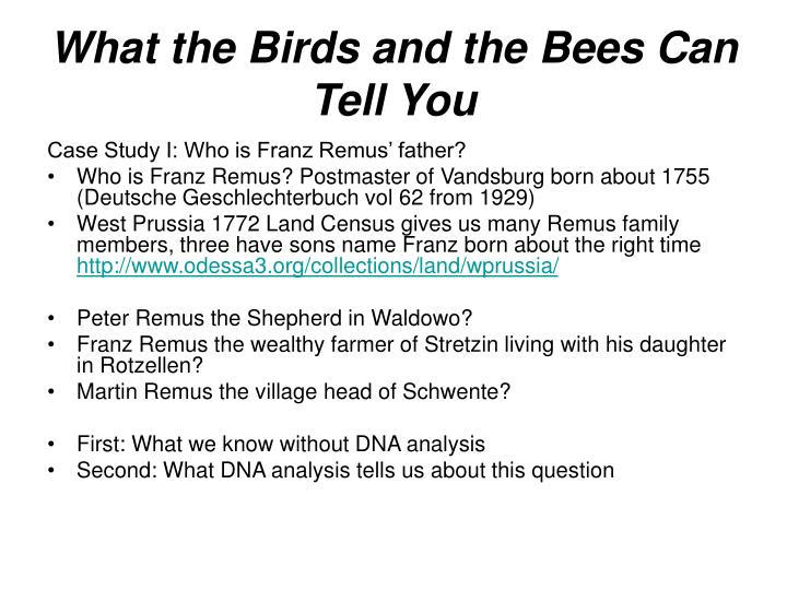What the Birds and the Bees Can Tell You