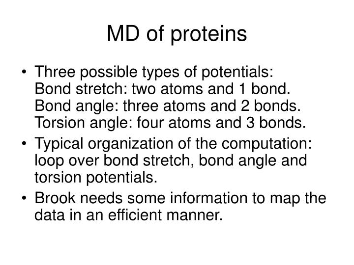 MD of proteins