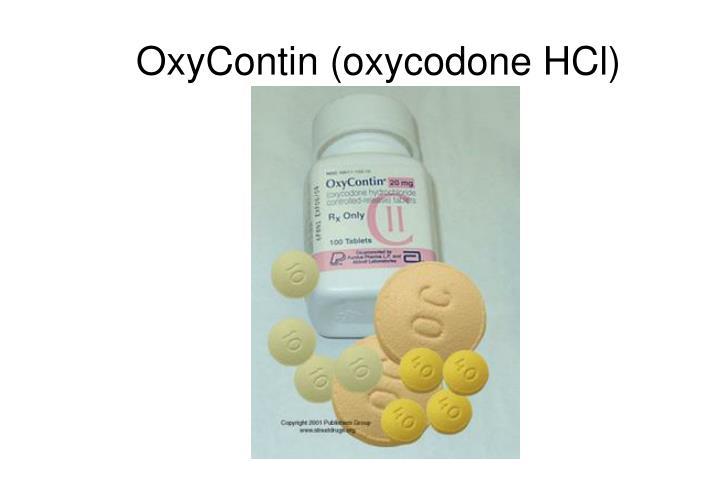 OxyContin (oxycodone HCl)