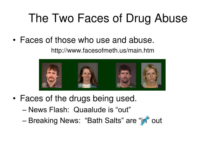 The two faces of drug abuse