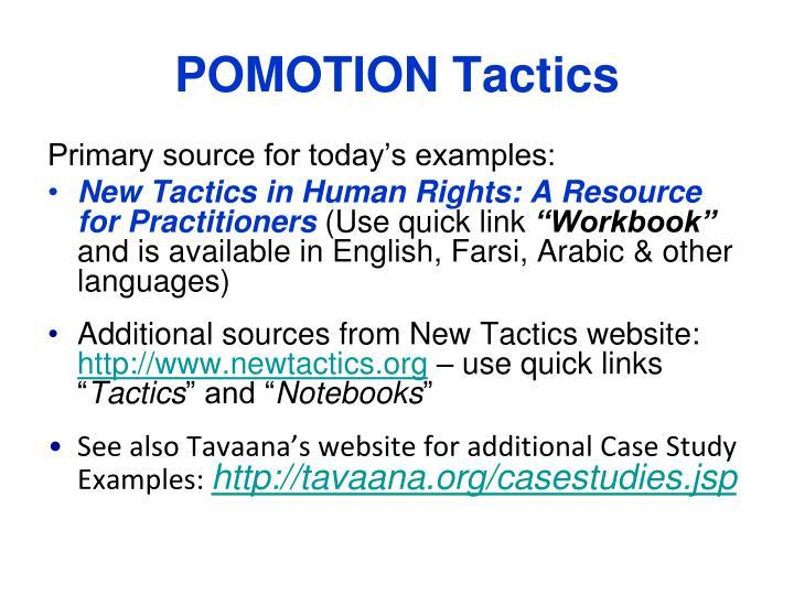 POMOTION Tactics