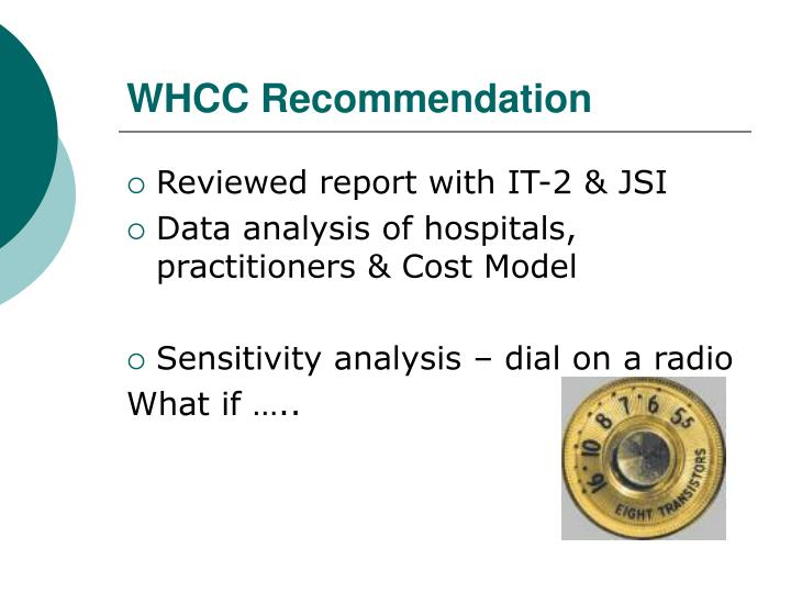 WHCC Recommendation