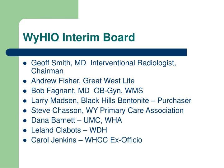 WyHIO Interim Board