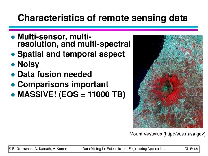 Characteristics of remote sensing data