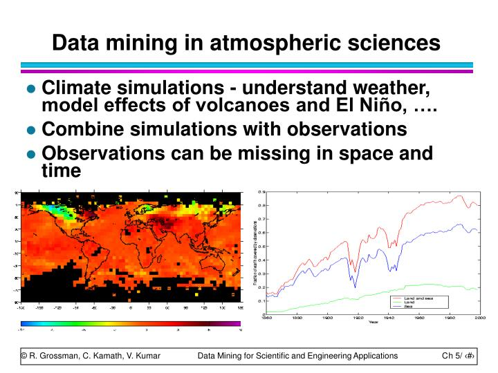Data mining in atmospheric sciences
