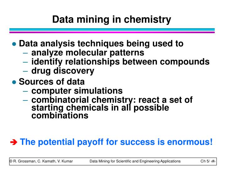 Data mining in chemistry