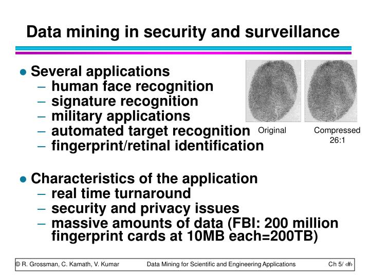 Data mining in security and surveillance