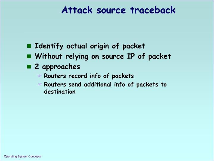Attack source traceback