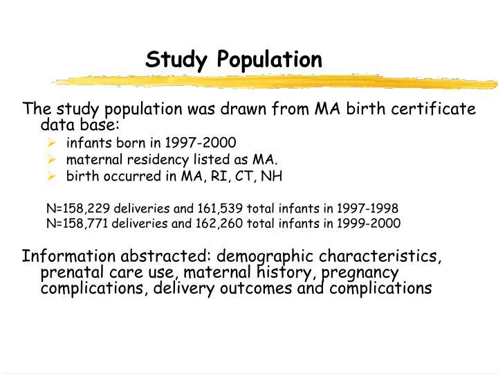 Study Population