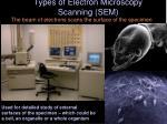types of electron microscopy scanning sem