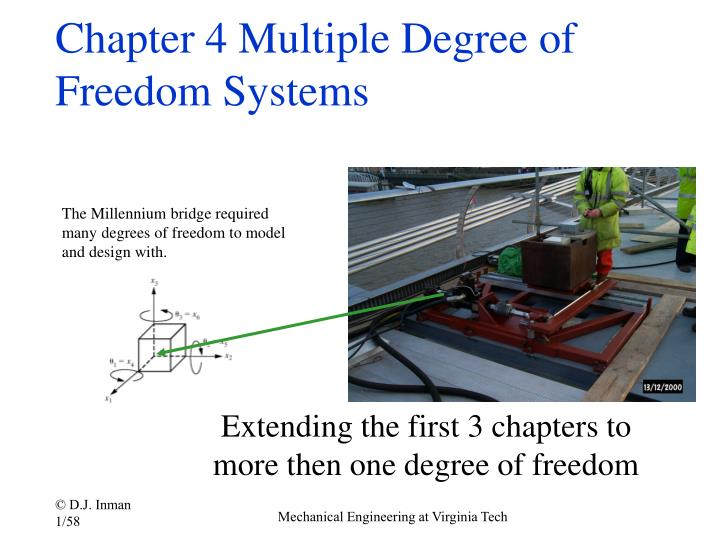 Chapter 4 multiple degree of freedom systems