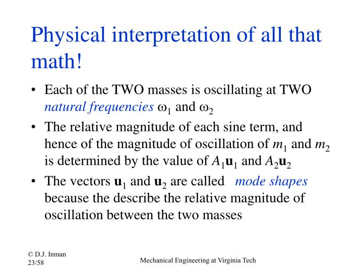 Physical interpretation of all that math!