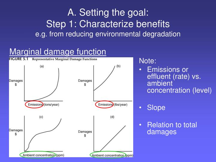 A setting the goal step 1 characterize benefits e g from reducing environmental degradation