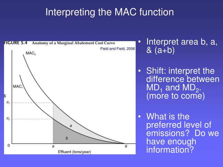 Interpreting the MAC function