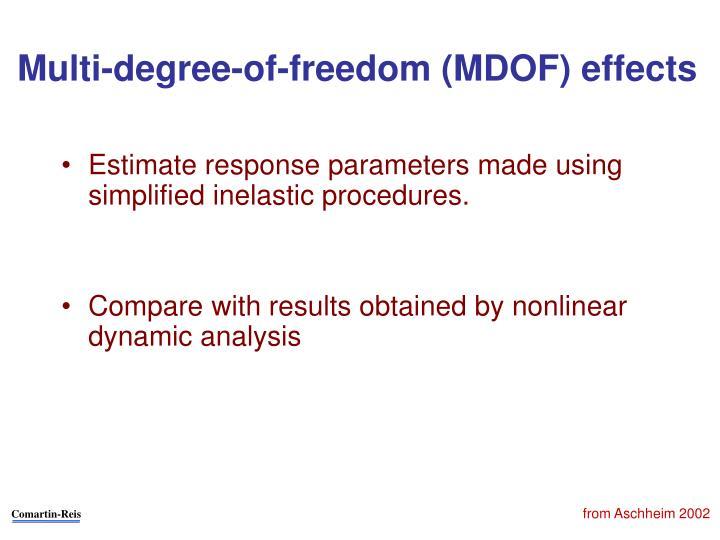 Multi-degree-of-freedom (MDOF) effects
